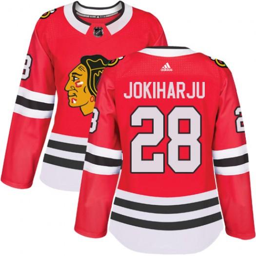 Henri Jokiharju Chicago Blackhawks Women's Adidas Authentic Red Home Jersey
