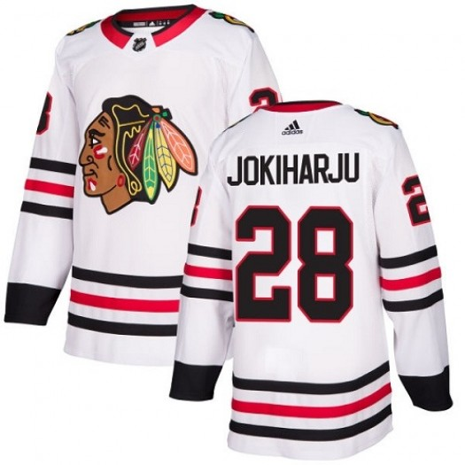 Henri Jokiharju Chicago Blackhawks Women's Adidas Authentic White Away Jersey