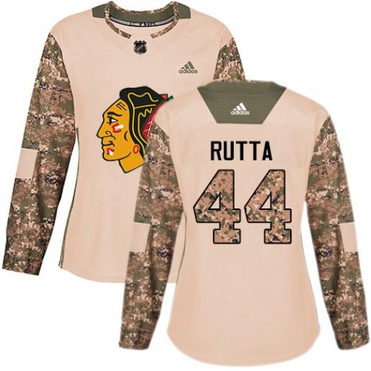 Jan Rutta Chicago Blackhawks Women's Adidas Premier White Away Jersey