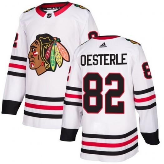 Jordan Oesterle Chicago Blackhawks Youth Adidas Authentic White Away Jersey