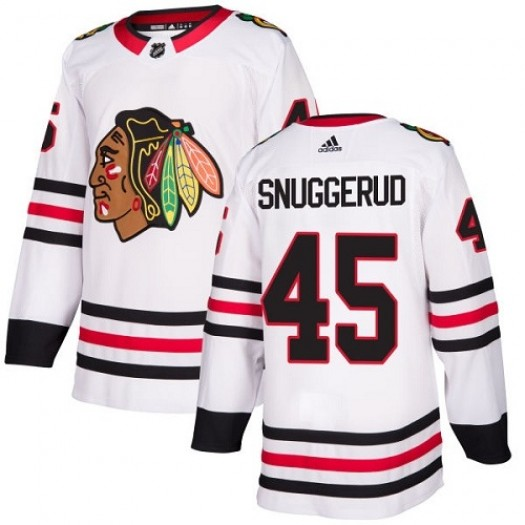 Luc Snuggerud Chicago Blackhawks Youth Adidas Authentic White Away Jersey