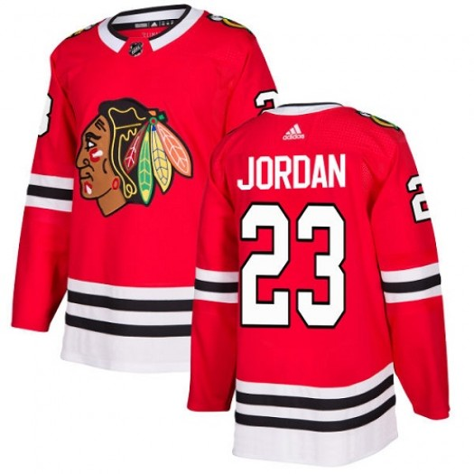 Michael Jordan Chicago Blackhawks Youth Adidas Authentic Red Home Jersey