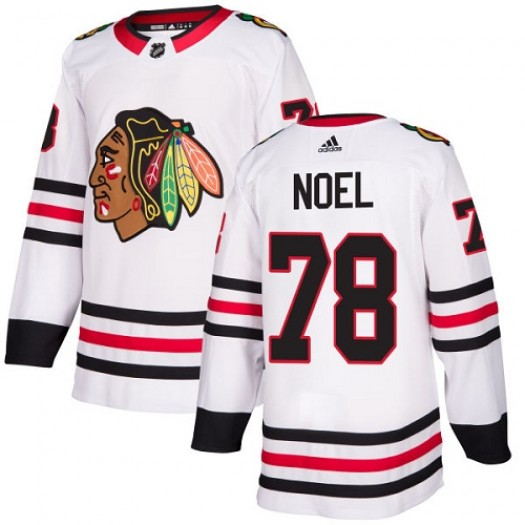 Nathan Noel Chicago Blackhawks Women's Adidas Authentic White Away Jersey