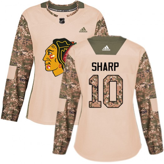 Patrick Sharp Chicago Blackhawks Women's Adidas Premier White Away Jersey