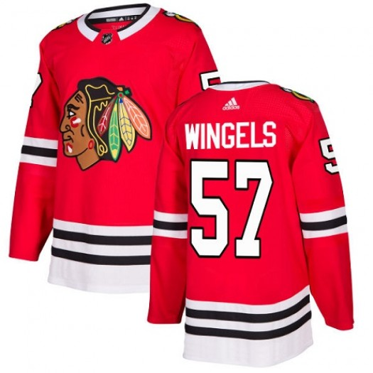 Tommy Wingels Chicago Blackhawks Youth Adidas Authentic Red Home Jersey