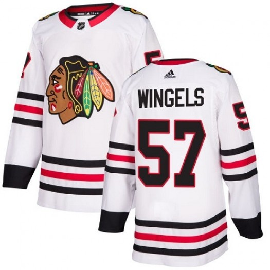 Tommy Wingels Chicago Blackhawks Youth Adidas Authentic White Away Jersey