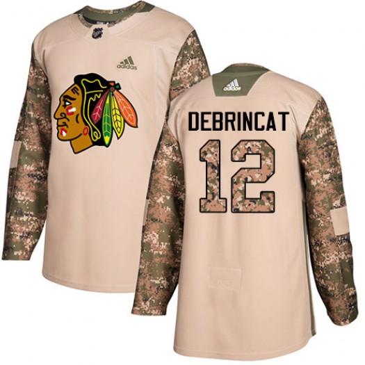 Alex DeBrincat Chicago Blackhawks Men's Adidas Authentic Camo Veterans Day Practice Jersey