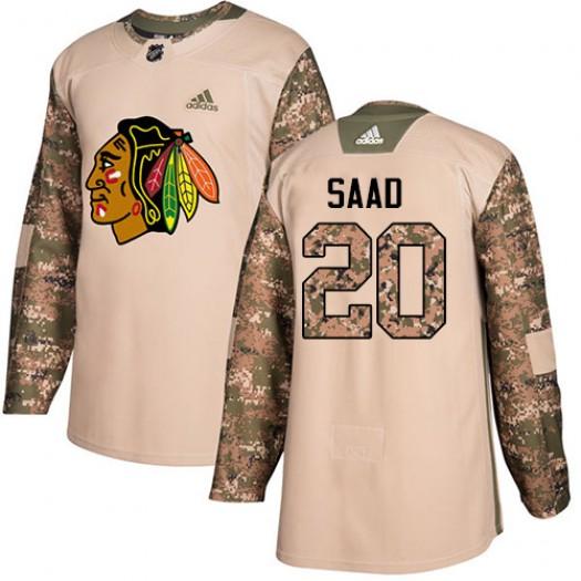 Brandon Saad Chicago Blackhawks Men's Adidas Authentic Camo Veterans Day Practice Jersey