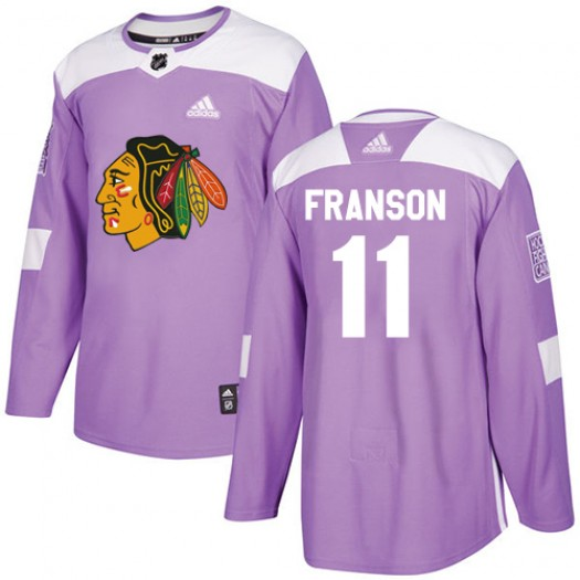 Cody Franson Chicago Blackhawks Men's Adidas Authentic Purple Fights Cancer Practice Jersey