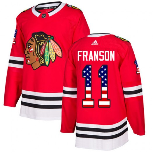 Cody Franson Chicago Blackhawks Youth Adidas Authentic Red USA Flag Fashion Jersey