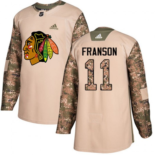 Cody Franson Chicago Blackhawks Men's Adidas Authentic Camo Veterans Day Practice Jersey