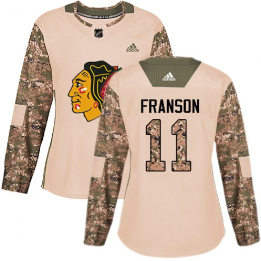 Cody Franson Chicago Blackhawks Women's Adidas Authentic Camo Veterans Day Practice Jersey