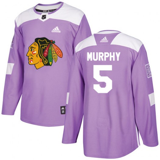Connor Murphy Chicago Blackhawks Men's Adidas Authentic Purple Fights Cancer Practice Jersey