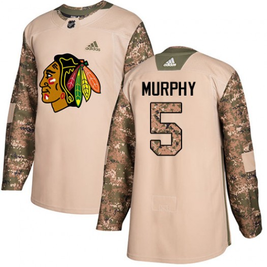 Connor Murphy Chicago Blackhawks Men's Adidas Authentic Camo Veterans Day Practice Jersey