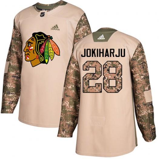 Henri Jokiharju Chicago Blackhawks Youth Adidas Authentic Camo Veterans Day Practice Jersey