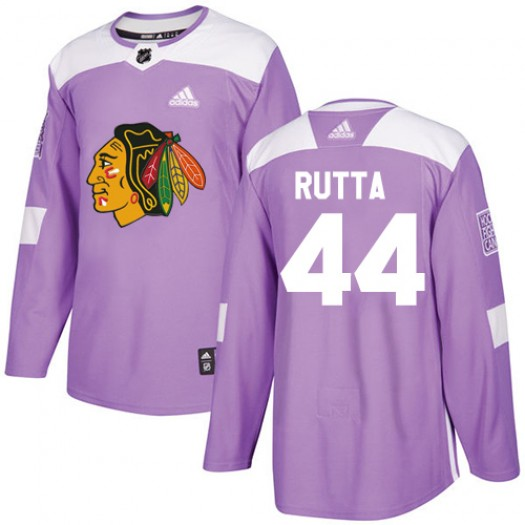 Jan Rutta Chicago Blackhawks Youth Adidas Authentic Purple Fights Cancer Practice Jersey