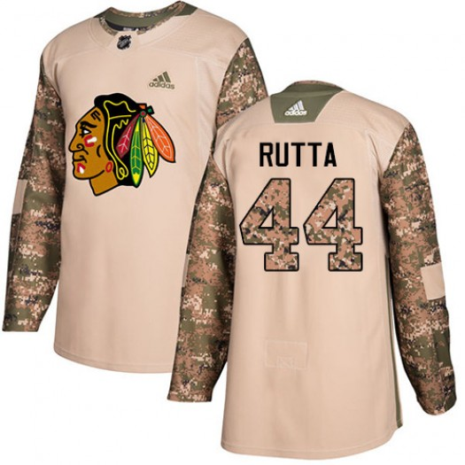Jan Rutta Chicago Blackhawks Men's Adidas Authentic Camo Veterans Day Practice Jersey