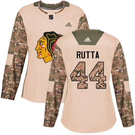 Jan Rutta Chicago Blackhawks Women's Adidas Authentic Camo Veterans Day Practice Jersey