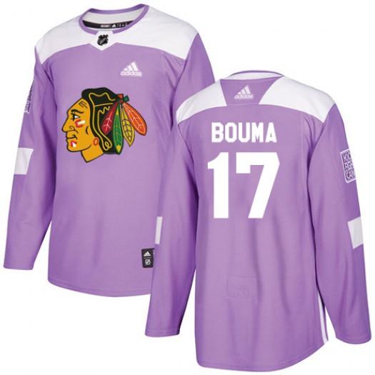 Lance Bouma Chicago Blackhawks Men's Adidas Authentic Purple Fights Cancer Practice Jersey