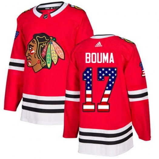 Lance Bouma Chicago Blackhawks Men's Adidas Authentic Red USA Flag Fashion Jersey