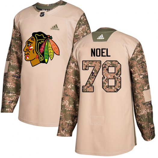 Nathan Noel Chicago Blackhawks Men's Adidas Authentic Camo Veterans Day Practice Jersey