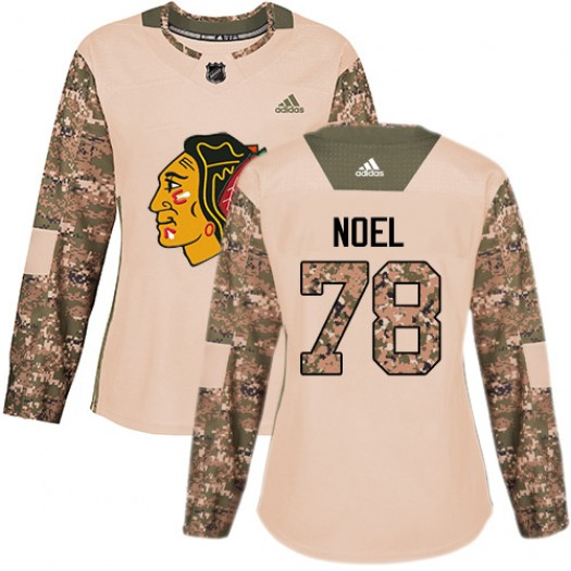 Nathan Noel Chicago Blackhawks Women's Adidas Authentic Camo Veterans Day Practice Jersey