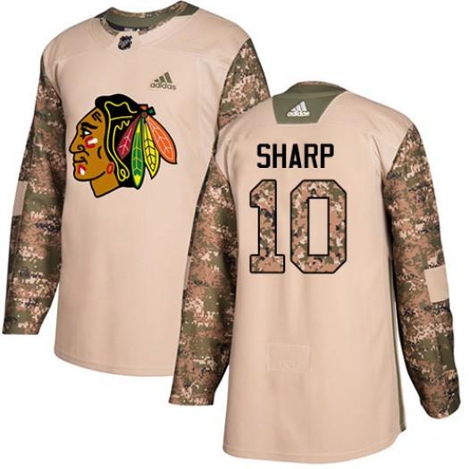 Patrick Sharp Chicago Blackhawks Men's Adidas Authentic Camo Veterans Day Practice Jersey