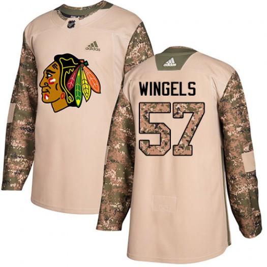 Tommy Wingels Chicago Blackhawks Men's Adidas Authentic Camo Veterans Day Practice Jersey