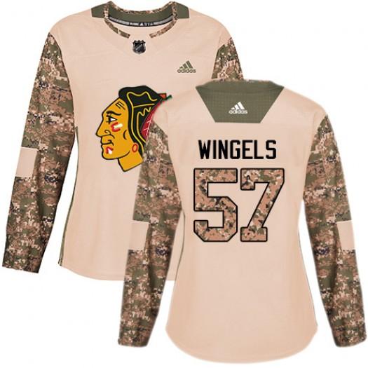 Tommy Wingels Chicago Blackhawks Women's Adidas Authentic Camo Veterans Day Practice Jersey