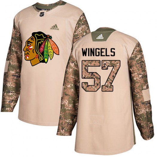 Tommy Wingels Chicago Blackhawks Youth Adidas Authentic Camo Veterans Day Practice Jersey